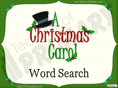 A Christmas Carol Word Search