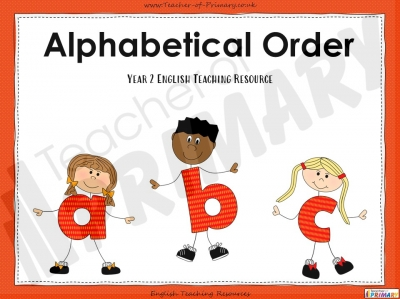 Alphabetical Order - Year 2
