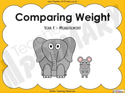 Comparing Weight - Year 1
