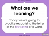 First Sounds - EYFS (slide 2/16)