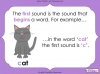 First Sounds - EYFS (slide 4/16)