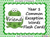 Year 1 Common Exception Words Flash Cards (slide 1/25)
