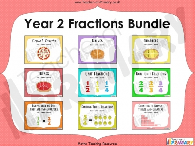 Year 2 Fractions Bundle